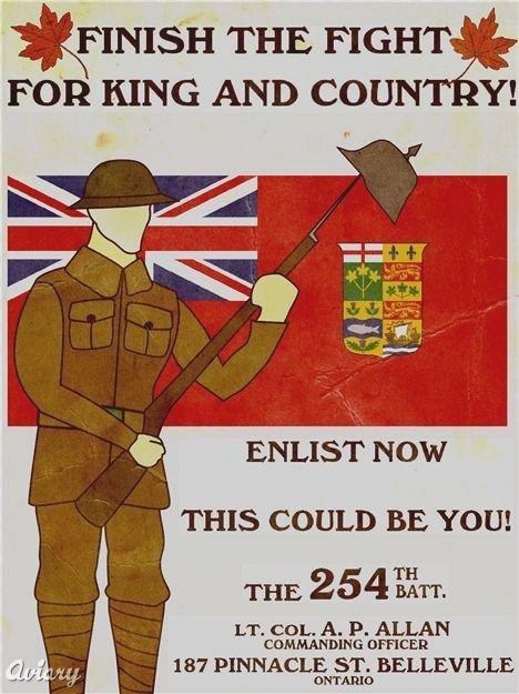 Canadian WWI RecruitmentPoster