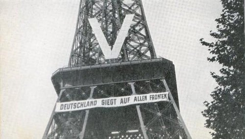 Eiffel Tower, Paris, during the Nazi occupation, WWII