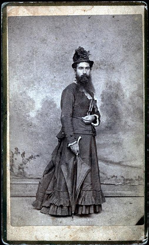 Vintage bearded woman