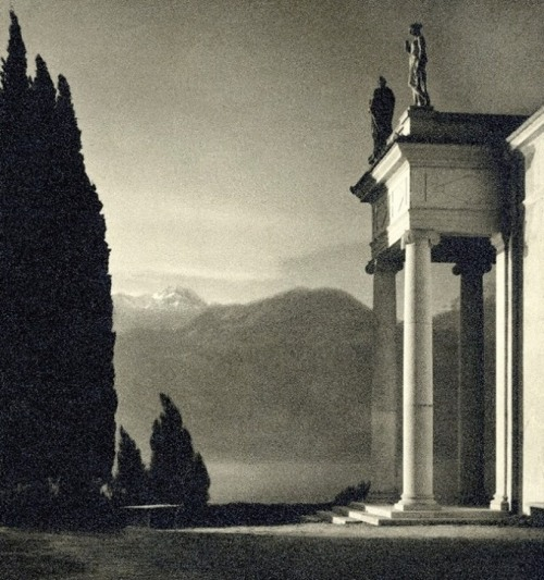 Palazzo di Sagno, Italy, photo by Erich Angenendt, 1930's.