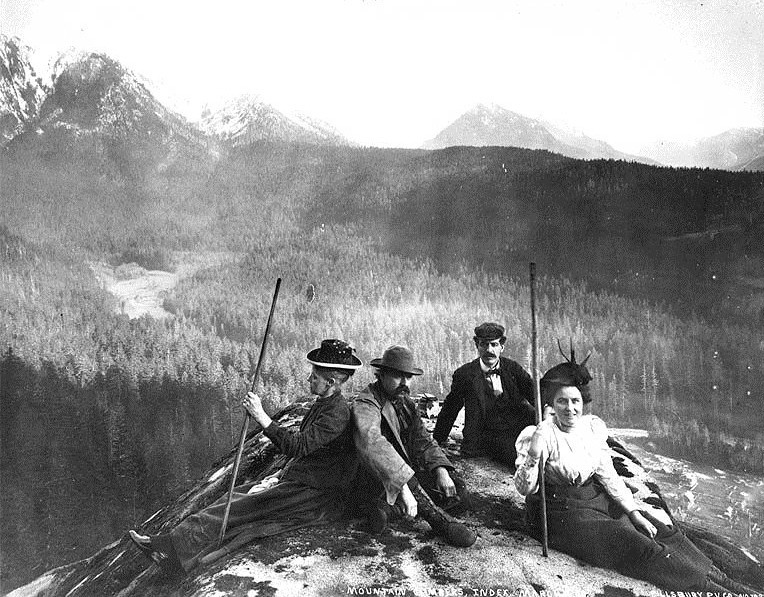 Mountain climbing party, 1800s