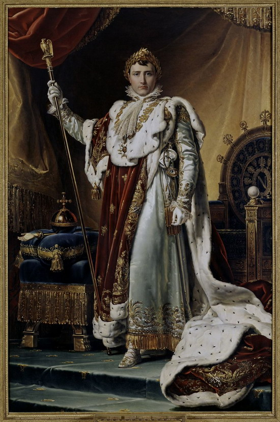 """Napoleon in his Coronation Robes"" by Francois Grard"