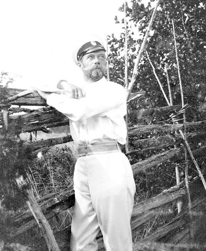 Nicholas II outdoors