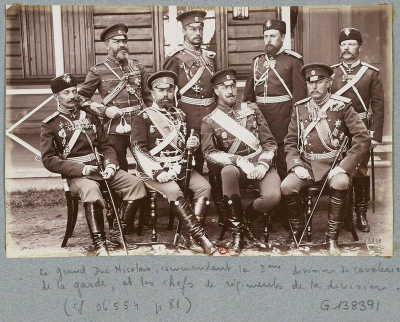 Russian officers, 1892