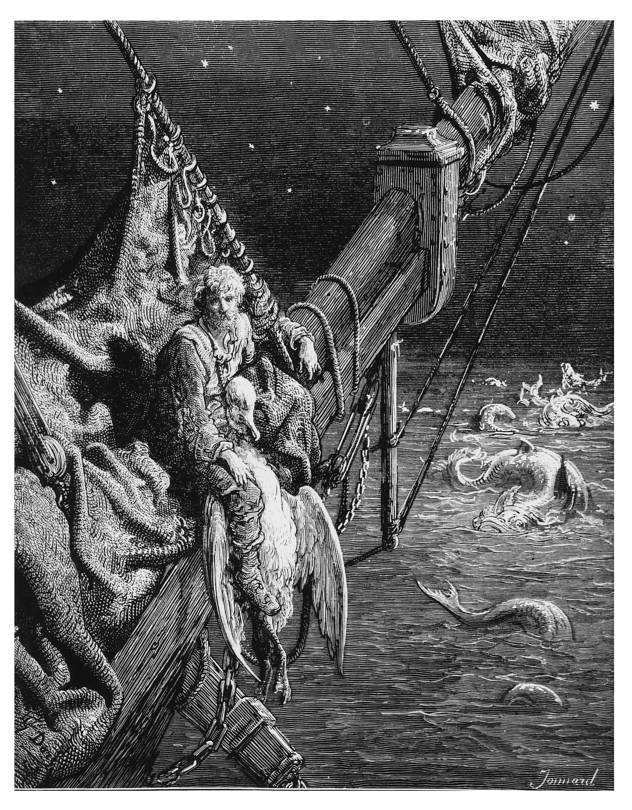 Illustration from an edition of Samuel Taylor Coleridge's 'The Rime of the Ancient Mariner'