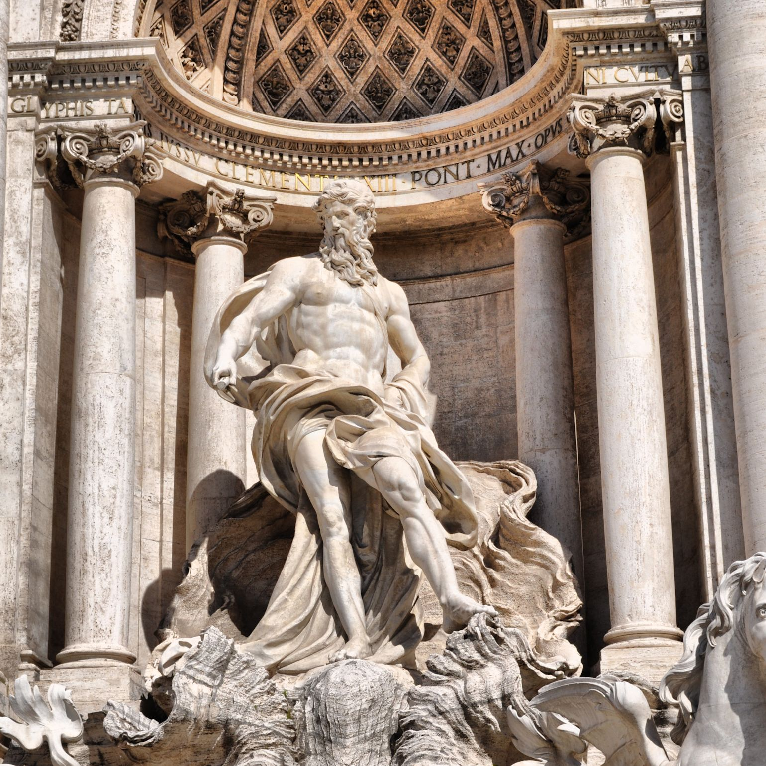 Neptune, God of the Sea, Trevi Fountain, Rome