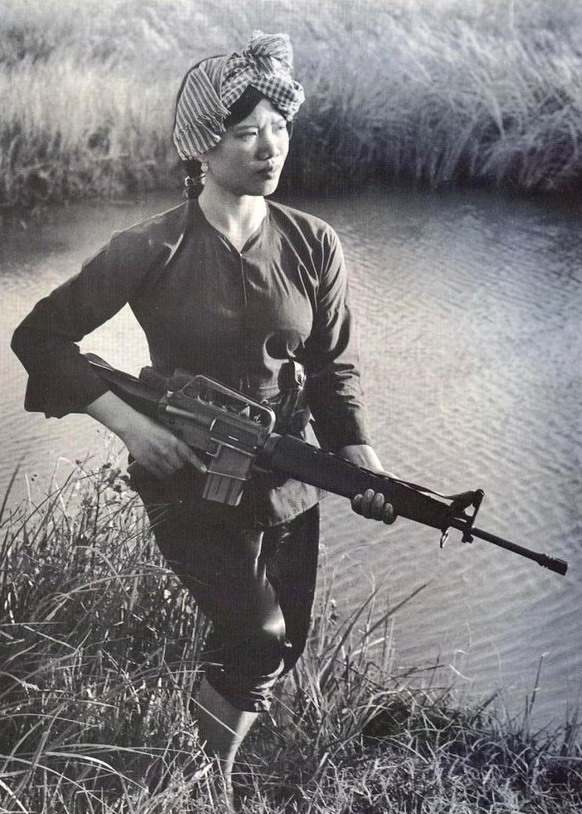 Female Viet Cong soldier, Vietnam War,1970s