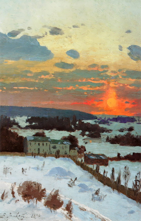 Painting by Vladimir Orlovsky, 1894
