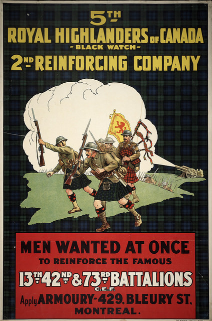 Royal Highlanders of Canada, Montreal, WWI