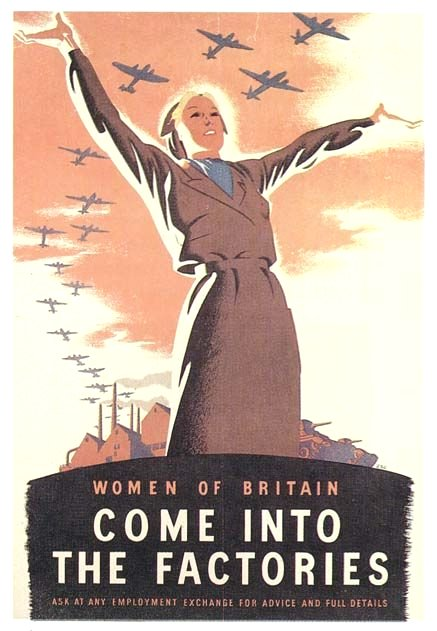 Women of Britain – Come Into the Factories – WWII