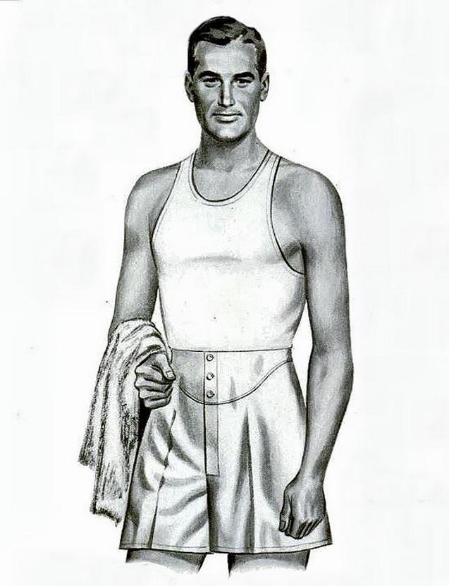 Men's undergarments, 1940s