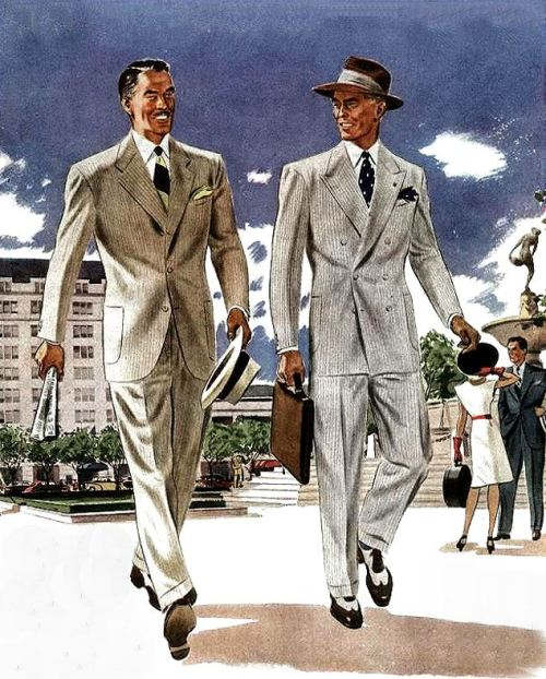 Men's suits, 1946