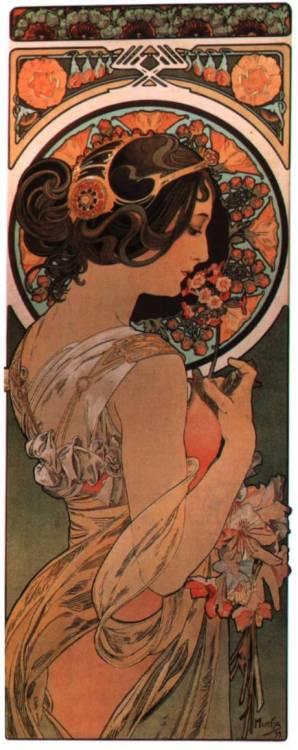 Illustration by Alphonse Mucha,1890s