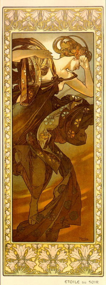 "Alphonse Mucha's ""Etoile du Soir"",1890s"