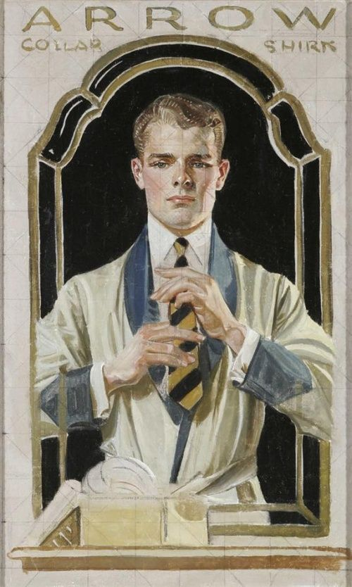 Leyendecker study for an illustration for Arrow collars & shirts