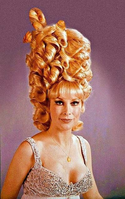 Barbara Eden – with BIG hair, 1960s