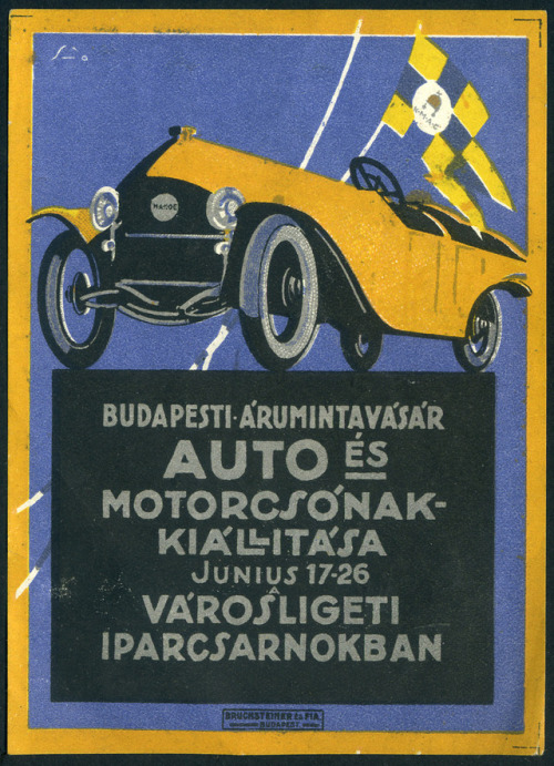 Car race, Hungary, circa 1910