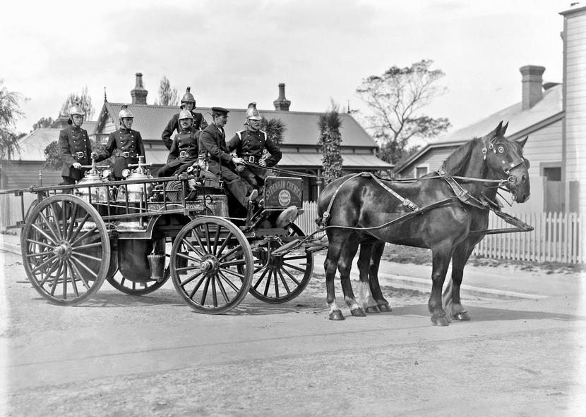 Fire brigade, New Zealand, circa 1900(?)