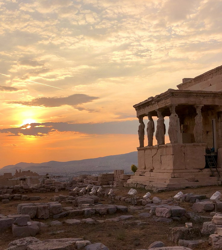 Ancient temple, Athens, Greece