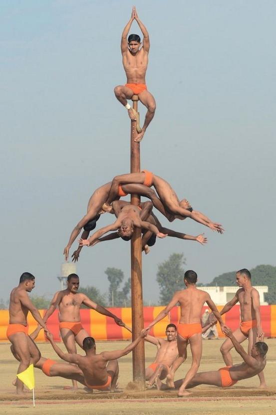 Indian acrobats