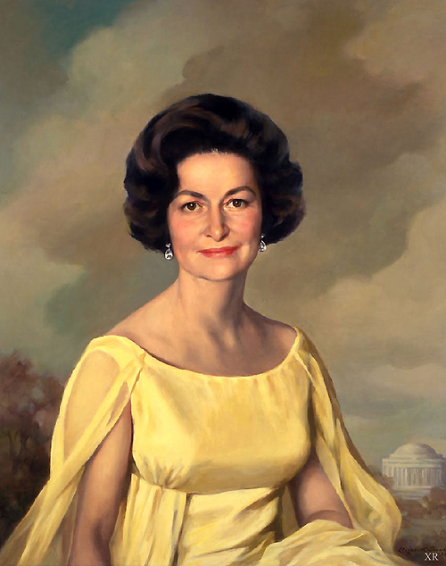 Portrait of Lady Bird Johnson, First Lady, 1960s