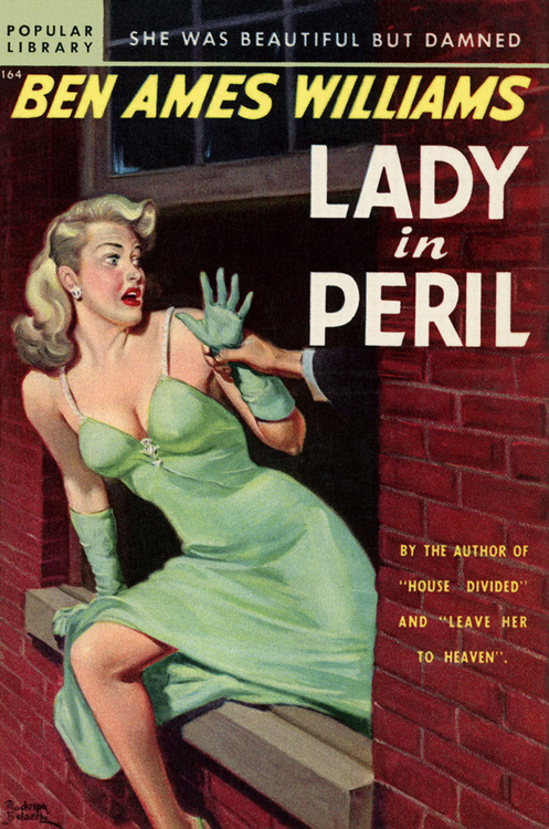 "Pulp fiction: She was beautiful but damned, she was a ""Lady in Peril"""