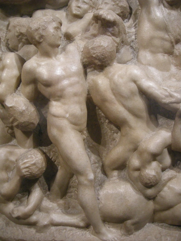 "Detail from Michelangelo's ""Battle of the Centaurs"""