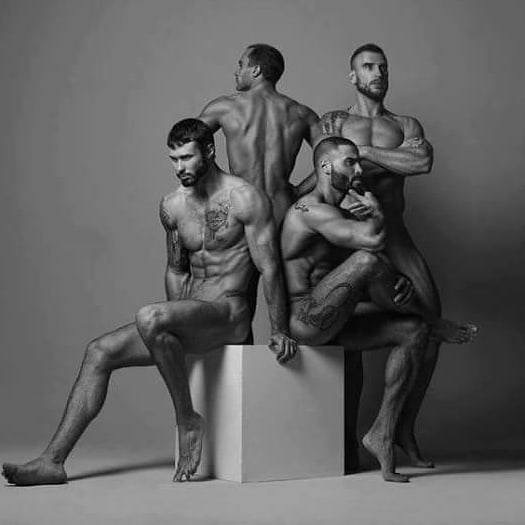 Four Men Together