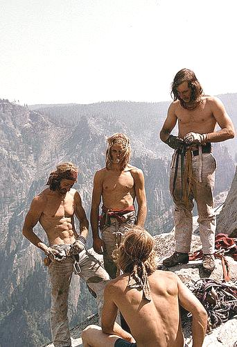 Mountain climbers, California, 1970s