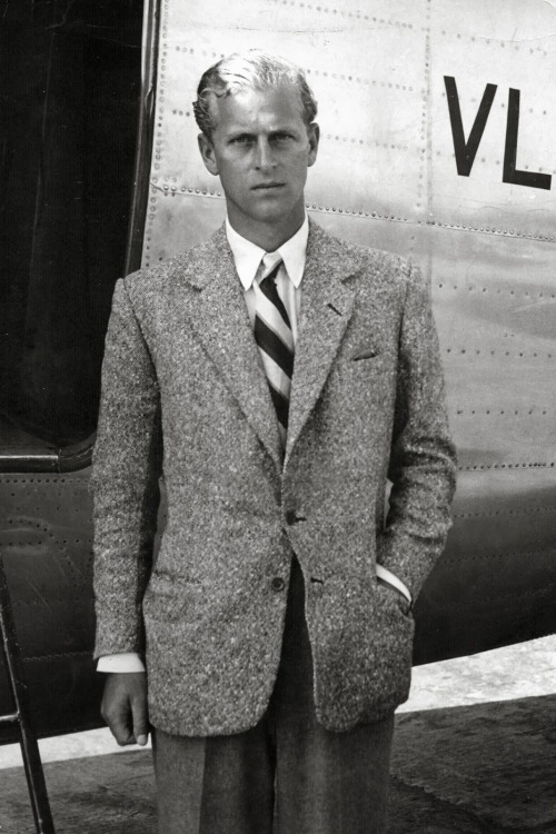 Young Philip (later Prince Philip, QE II's husband)