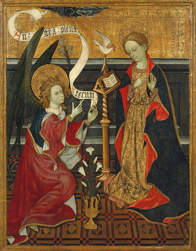 Painting of the Annunciation by Fra Angelico, 1400s