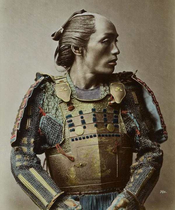 Samurai Warrior, Yokohama, Japan, photo by Franz von Stillfried-Ratenicz, 1881