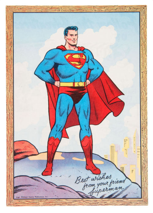 Best wishes from your friend, Superman