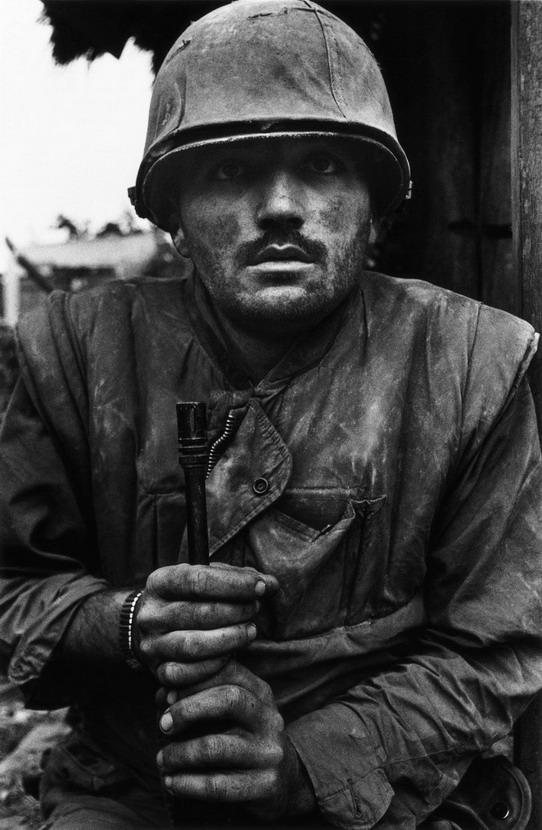 Shell-shocked US Marine, Vietnam War,1968