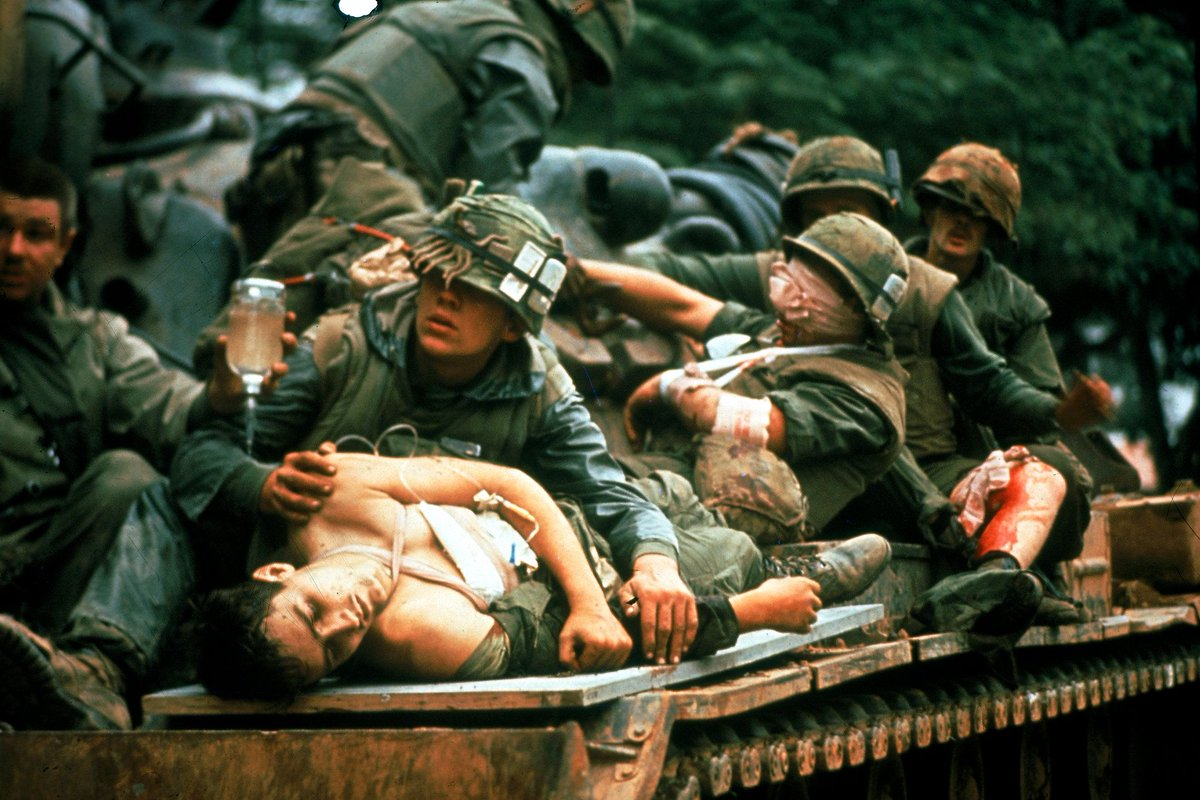 Injured American soldiers, Vietnam War,1960s