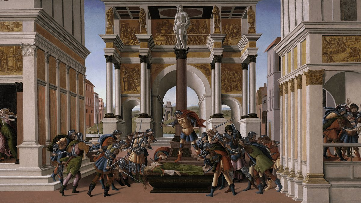 """The Tragedy of Lucretia"" by Botticelli"