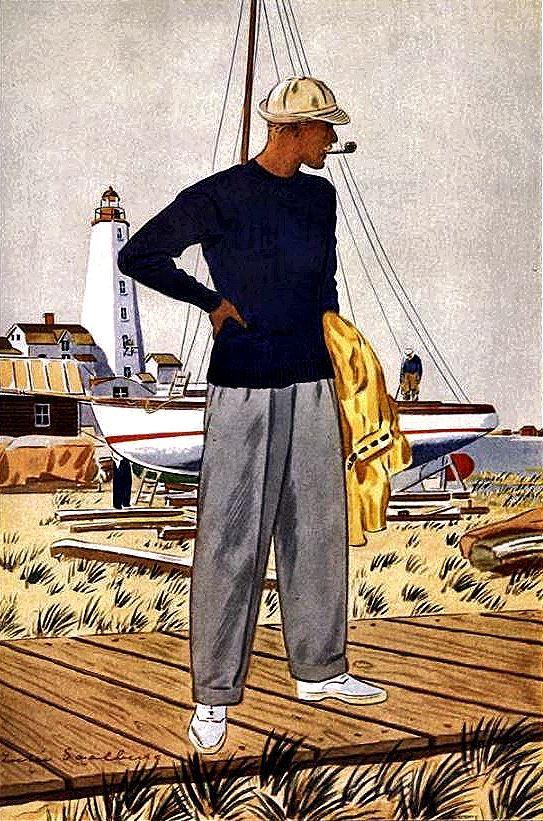 1930s Men's Sailing WearFashions