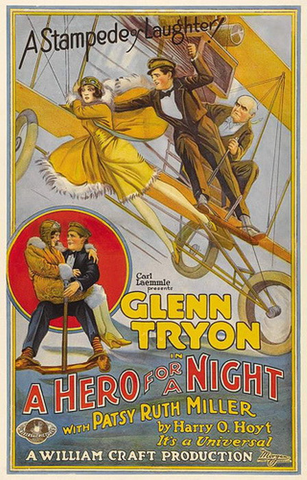 """ A Hero For a Night"", silent movie, 1910s"