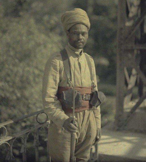 Algerian soldier, WWI/Soldat Algerien, 1ere GuerreMondiale