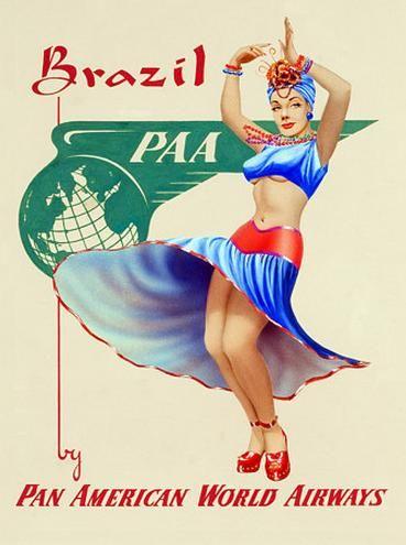 Brazil travel poster,1930s