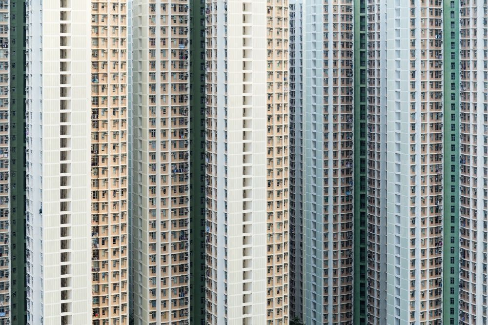 Apartment buildings, China