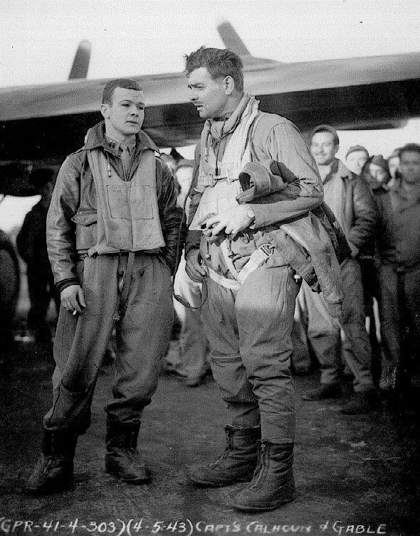 Clark Gable in the US armed forces during WWII