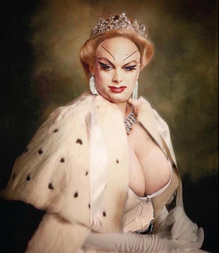 Divine as queen