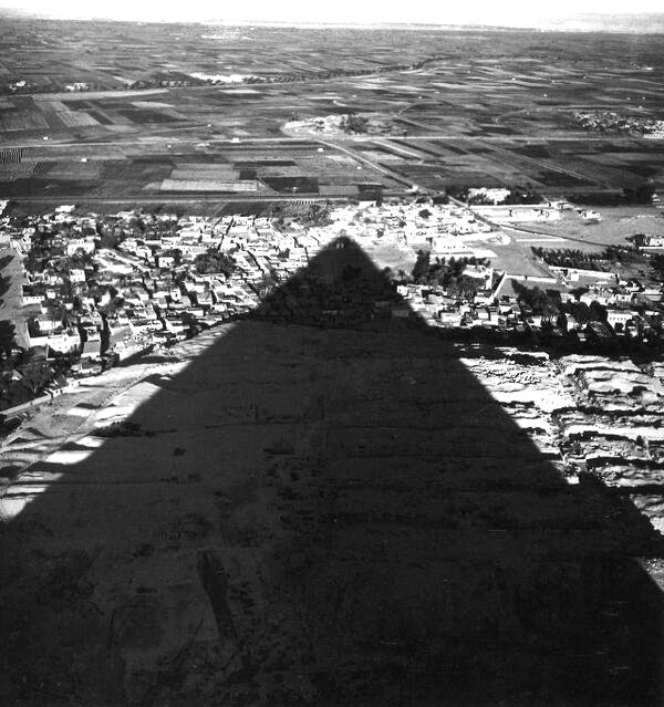 The shadow of the Great Pyramid, Giza, Egypt,1938
