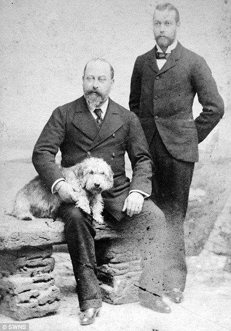 Prince George (late King George V) and his father King EdwardVII