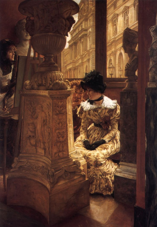 Inside the Louvre, painting by James Tissot