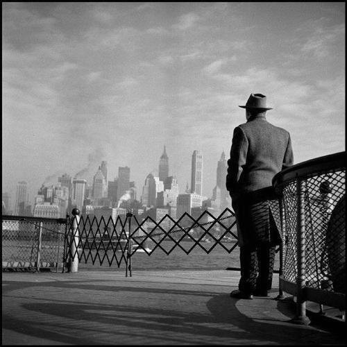 Man on the Staten Island Ferry, NYC, 1951 by Burt Glinn