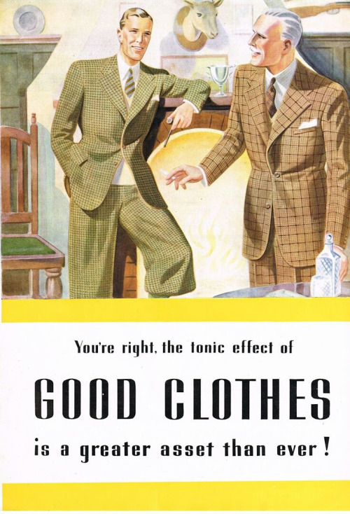 The tonic effect of good clothes is a greater asset than ever!