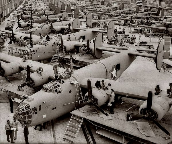 Building bombers during WWII in Texas