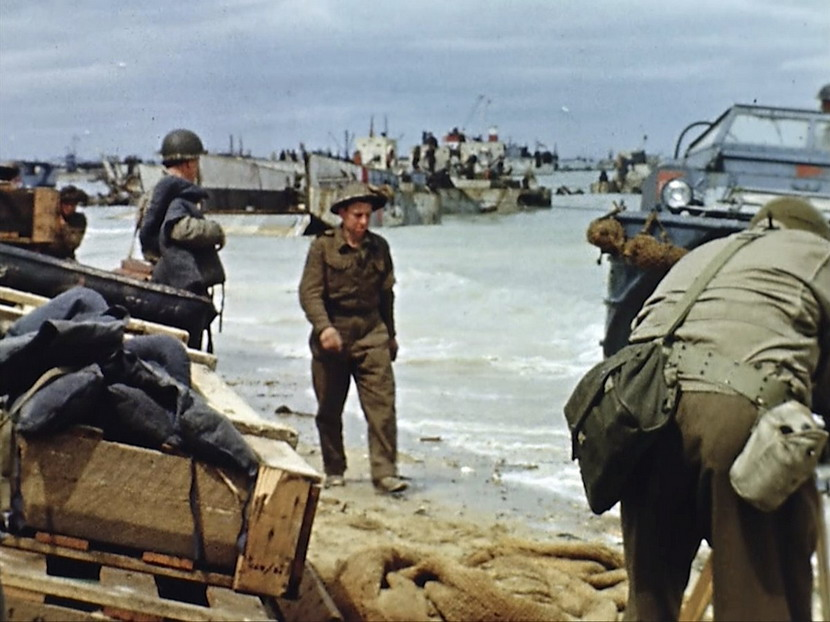 D-Day in living colour, 1944